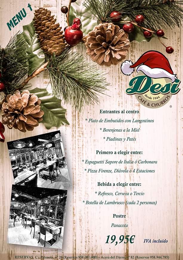 Menu 1 Comidas de Navidad en Granada