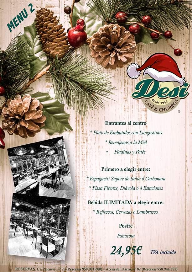 Menu 2 Comidas de Navidad en Granada